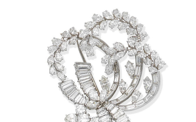 A diamond brooch, circa 1960