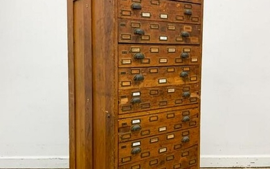 AMERICAN, TWELVE DRAWER MAP OR DOCUMENT CHEST
