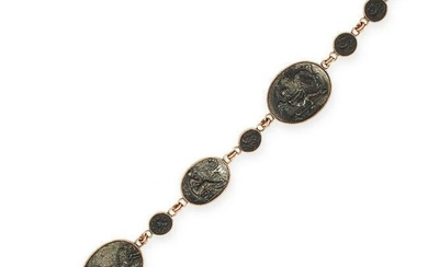 AN ANTIQUE BERLIN IRONWORK BRACELET in yellow gold and