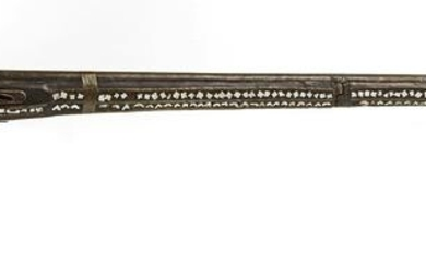 AN OTTOMAN MOTHER-OF-PEARL INLAID MIQUELET RIFLE