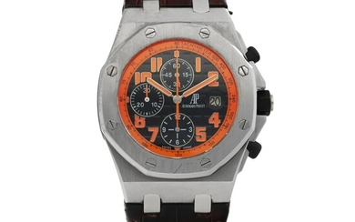 AUDEMARS PIGUET | ROYAL OAK OFFSHORE 'VOLCANO', REF 26170ST.00.D101CR.01 STAINLESS STEEL CHRONOGRAPH WRISTWATCH WITH DATE CIRCA 2013