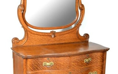 American Victorian Oak Chest of Drawers