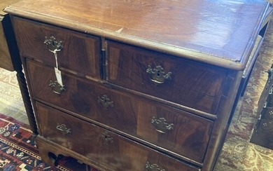 An early 18th century walnut chest fitted two short drawers ...