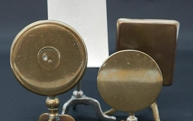Antique Brass English Tip Top Miniature Tables (4)