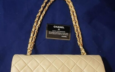 Authentic Classic Chanel Beige Hand Bag