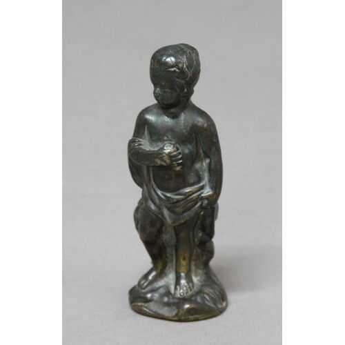 BRONZE FIGURE EMBLEMATIC OF AUTUMN, perhaps 17th century, th...