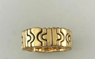 BVLGARI, 750°/°°° gold flexible opening band, signed, Gross...