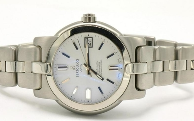 "Bertolucci ""UOMO"" White Dial Stainless Watch"