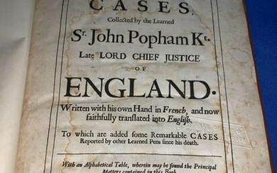 Book: Reports and Cases, 1682
