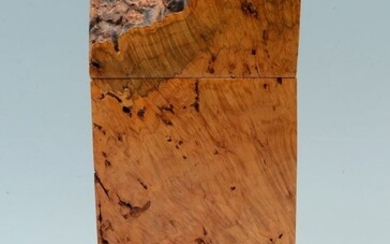 CARVED DRIFTWOOD BOX SIGNED MICHAEL ELKAN