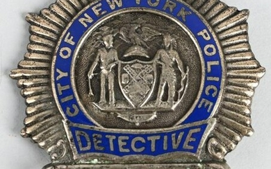 CITY OF NEW YORK POLICE DETECTIVE BADGE #3