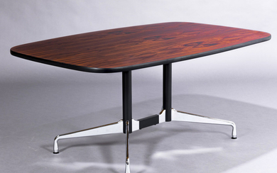 Charles & Ray Eames. Vintage table, 'Segmented table' Brazilian-rosewood, 168 x 106 cm