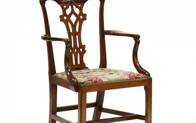 Chippendale Carved Mahogany Armchair