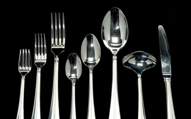 Christofle 'Pyramis' Pattern Stainless Steel Flatware