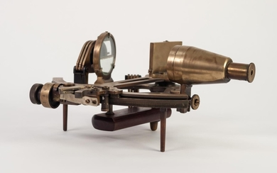 EARLY 20th CENTURY GERMAN BRASS SHIP'S SEXTANT by C. Plath, ...