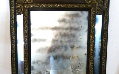 EMBOSSED BRASS MIRROR FRAME MIRROR 39X33""