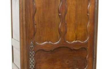 FRENCH PROVINCIAL LOUIS XV STYLE ONE-DOOR ARMOIRE