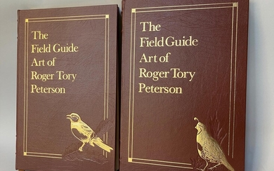 Field Guide Art of Roger Tory Peterson 2 Vols. 1st Ed. Signed FR3SH