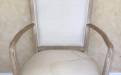 French Provencal Pine Carved Upholstered Chair