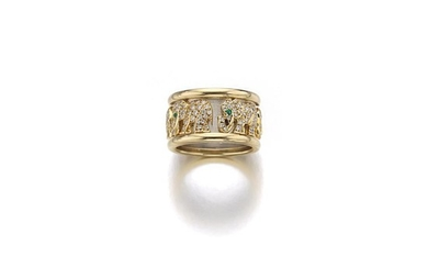 GOLD EMERALD AND DIAMOND RING, CARTIER