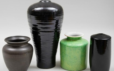 Group of Four Contemporary Porcelain and Earthenware