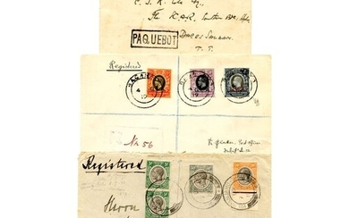 K.U.T Tanganyika 1917-21 25c, 50c & 75c, all neatly cancelle...