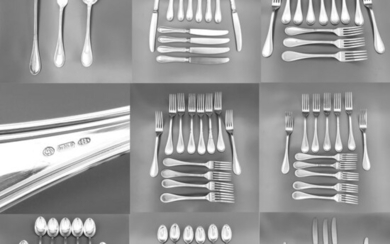 Kitchen cutlery (87) - .800 silver - Italy - Second half 20th century
