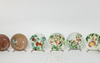 Lot of 6 various French Majolica plates