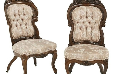 Pair of Rosewood Side Chairs, Attributed to Belter