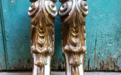 Pair of furniture fragments - Louis Philippe - Wood