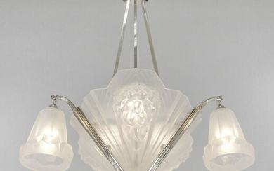 Petitot - French 1930 art deco chandelier