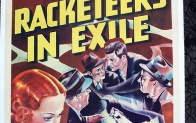 Racketeers In Exile (1937) US One Sheet Movie Poster LB