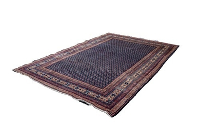 SAROUK PERSIAN LUSTROUS ALL-WOOL HAND KNOTTED CARPET with a ...