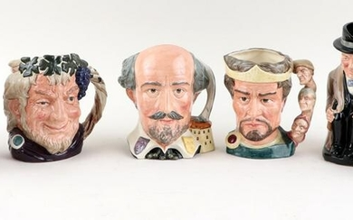 SIX PIECES OF ROYAL DOULTON PORCELAIN & TOBY MUGS