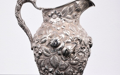 Schofield Sterling Silver Floral Hand Chased & Repousse Pitcher