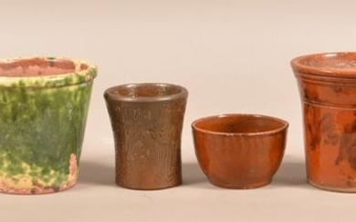Six Pieces of Antique Glazed Redware.