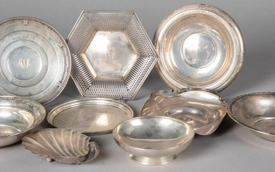 Sterling silver serving dishes