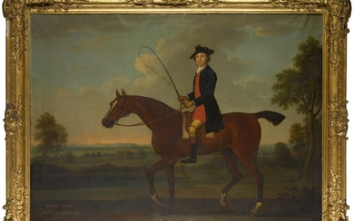 THOMAS SPENCER | RALPH GORE, VISCOUNT BELLEISLE AND 1ST EARL OF ROSS (1725-1802) ON HIS BAY HUNTER IN A LANDSCAPE