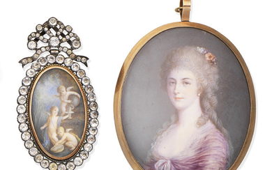 Two 19th century portrait miniatures, French School