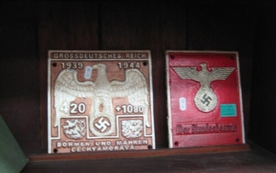 Two Cast Iron Wall Plaques of World War 2 interest