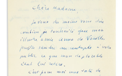 VALÉRY, PAUL. Three Autograph Letters Signed, to various recipients, in French.