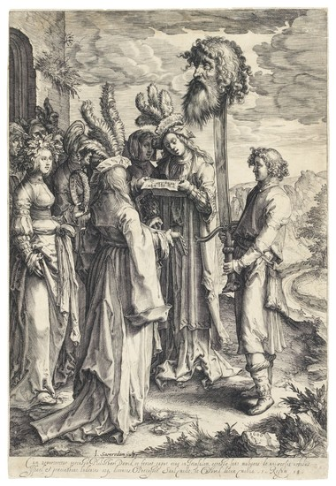 VARIOUS ARTISTS   A COLLECTION OF PRINTS DEPICTING THE TRIUMPH OF DAVID
