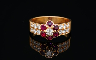 Van Cleef & Arpels 1.60ctw Ruby & Diamond 18K Ring