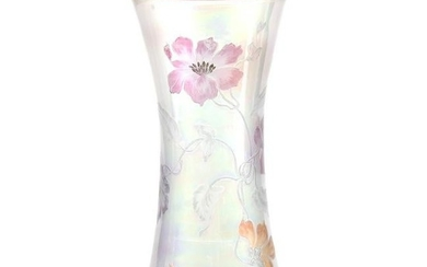 Vase, Clear Iridescent Art Glass