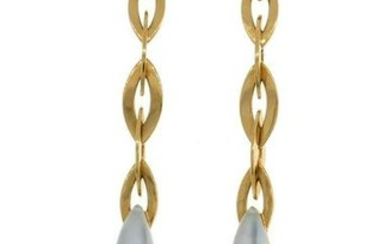 Vhernier Fuseau Yellow Gold EARRINGS w Mother-of-Pear;