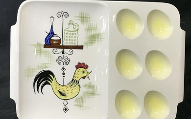 Vintage Hand Painted Egg Serving Tray