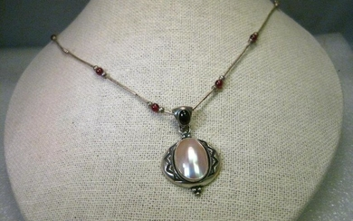 """Vintage Retired Carolyn Pollack 15.5"""" Necklace with"""