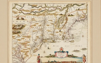 Visscher's Map of New England and New Amsterdam, Amsterdam, c.1684