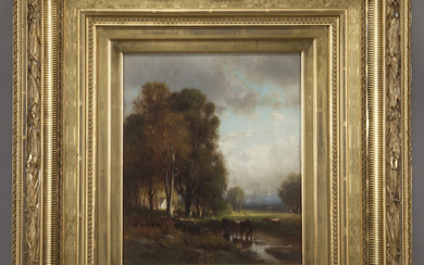"""William Hart """"Untitled (Landscape)"""" oil on canvas,"""