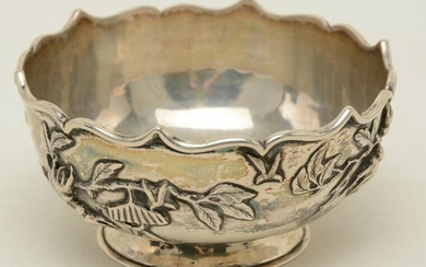 Woshing Chinese export silver bowl, late 19th century.